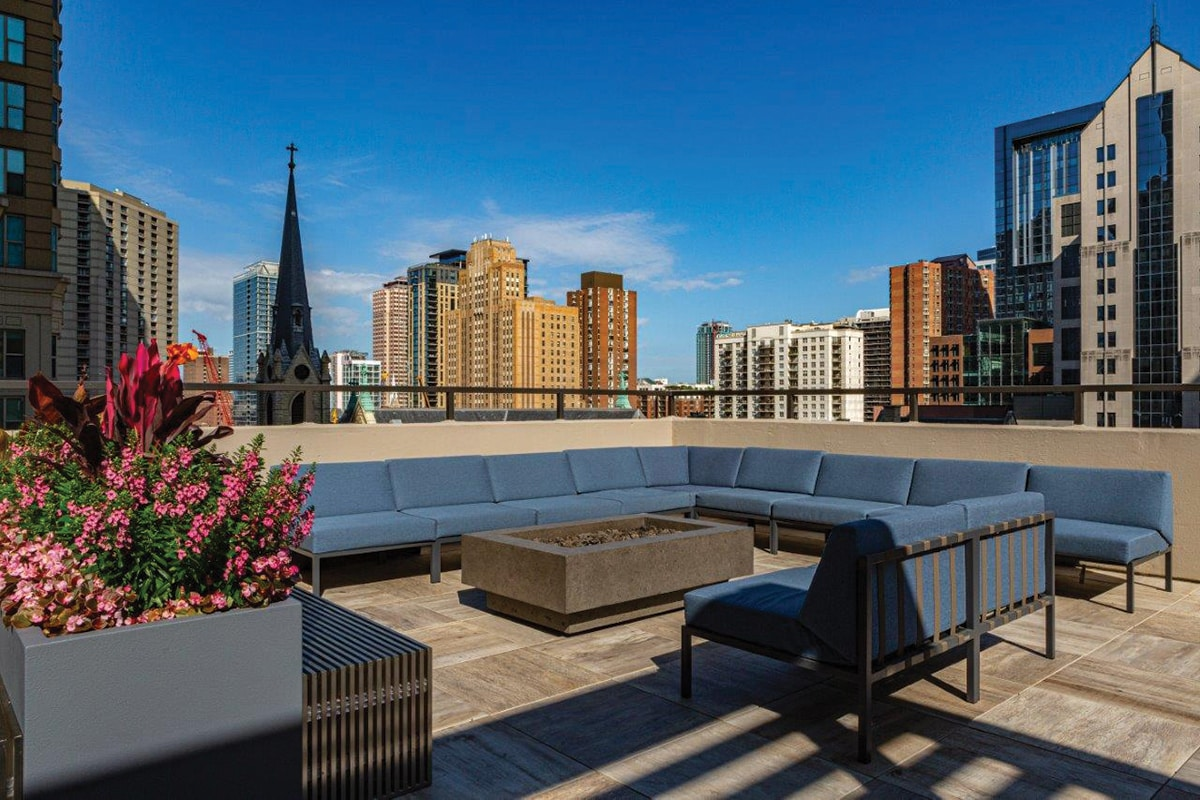 The rooftop at 30 East Huron