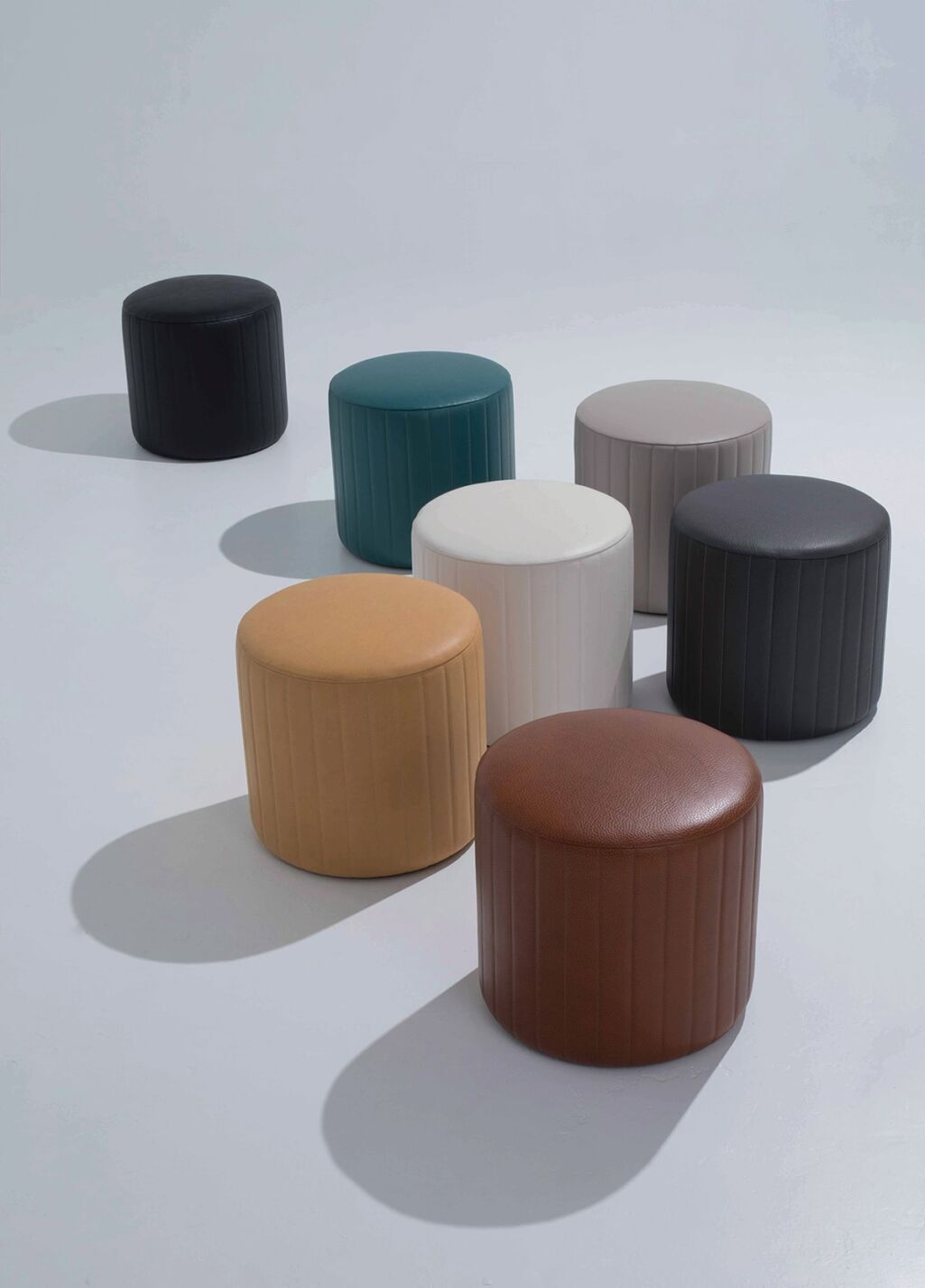 Edelman Leather - Quilted Ottomans