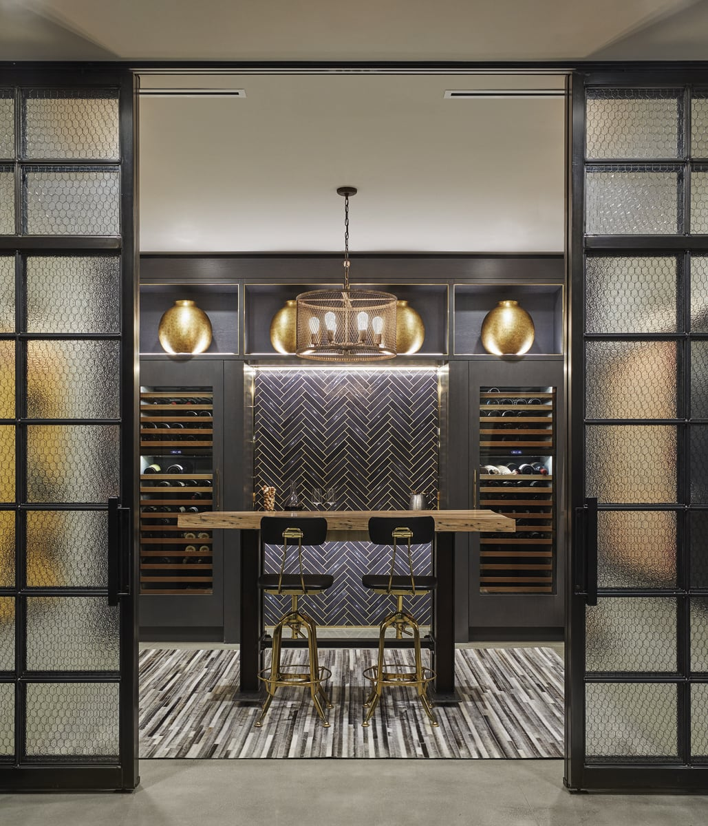 Less is More - wine room